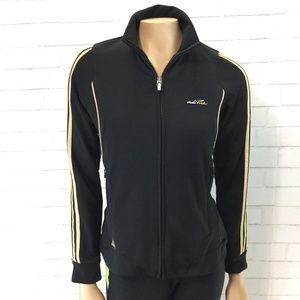 adidas AdiPure Black and Gold Warm Up Women Small